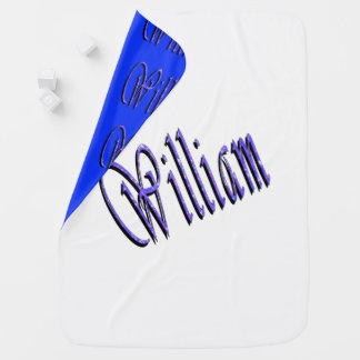 William, Name, Logo, Reversible Baby Blanket. Baby Blanket