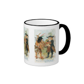 William Penn Making Friends with The Indians Coffee Mugs