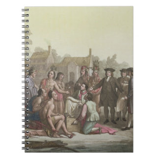 William Penn negotiating the treaty leading to the Notebooks