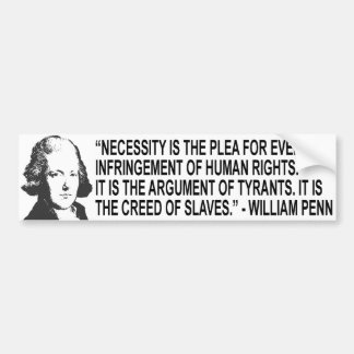 William Penn Quote Bumper Sticker