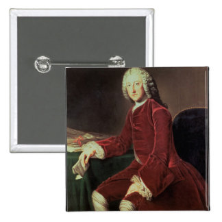 William Pitt the 'Elder', later 1st Earl of Chatha 15 Cm Square Badge