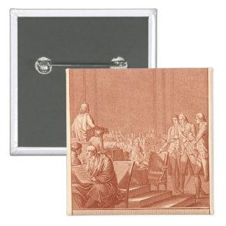 William Pitt the Elder  Opposing the Peace 15 Cm Square Badge