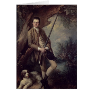 William Poyntz of Midgham and his Dog Amber Card