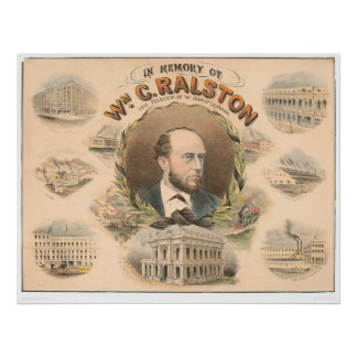 William Ralston, President of Bank of CA. (1384A) Poster