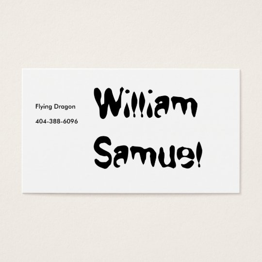 William Samuel, Flying Dragon