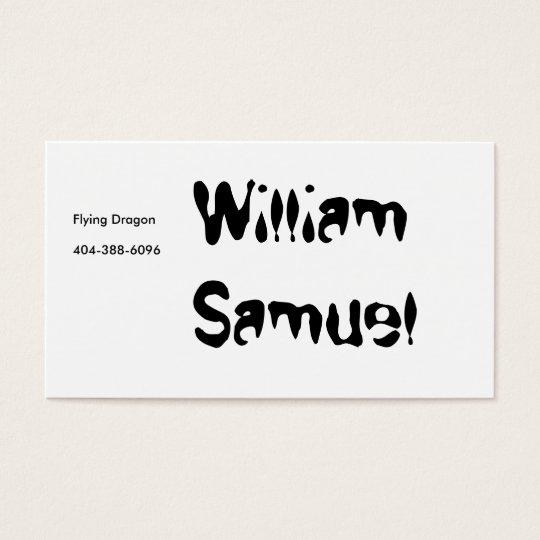 William Samuel, Flying Dragon Business Card