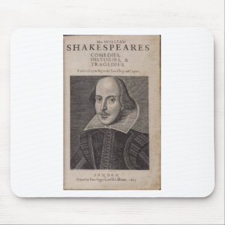 William Shakespeare, 1623 Mouse Pad