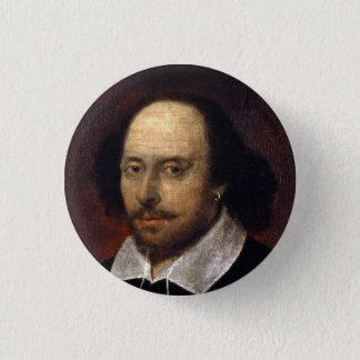 William Shakespeare 3 Cm Round Badge