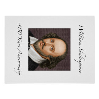 William Shakespeare 400 Years Anniversary Poster