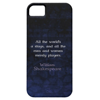 William Shakespeare All The World's A Stage Quote Barely There iPhone 5 Case