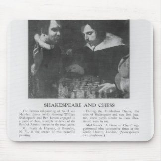 William Shakespeare  and Ben Jonson Mouse Pad
