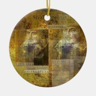 WILLIAM SHAKESPEARE art Ceramic Ornament