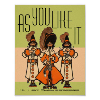 William Shakespeare As You Like It Moss Grn Poster