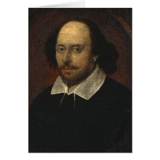 William Shakespeare Blank Card