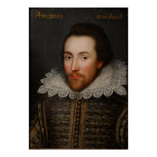 William Shakespeare Cobbe Portrait circa 1610 Poster