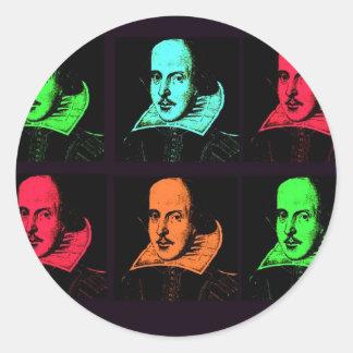 William Shakespeare Collage Round Sticker