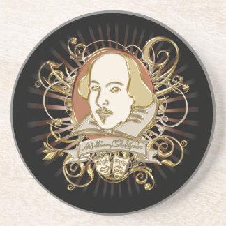 William Shakespeare Crest (Gold) Coaster