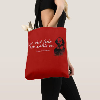 William Shakespeare Fools Quote Funny Teacher Gift Tote Bag