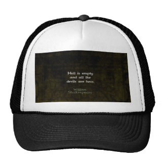 William Shakespeare Humorous Witty Quotation Hats