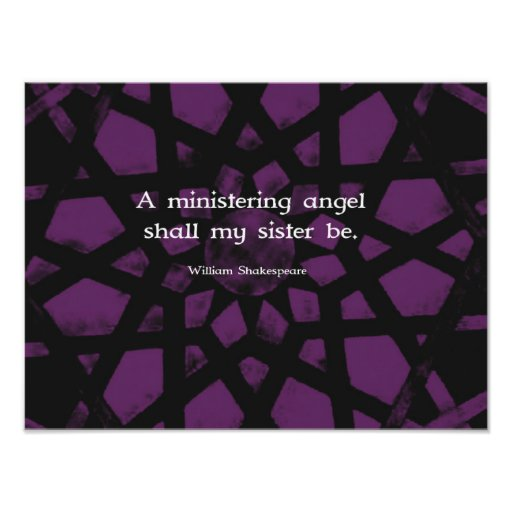 William Shakespeare Inspirational Sister Quote Art Photo