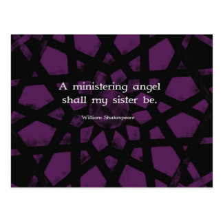 William Shakespeare Inspirational Sister Quote Postcard