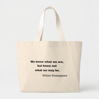 William Shakespeare Inspiring Quote Large Tote Bag