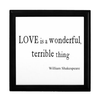 William Shakespeare Love is Wonderful and Terrible Gift Box