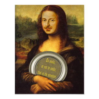 William Shakespeare Parody 11 Cm X 14 Cm Invitation Card