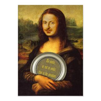 William Shakespeare Parody 13 Cm X 18 Cm Invitation Card