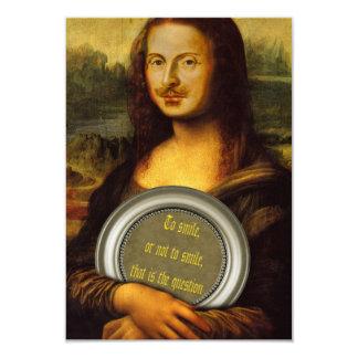 William Shakespeare Parody 9 Cm X 13 Cm Invitation Card