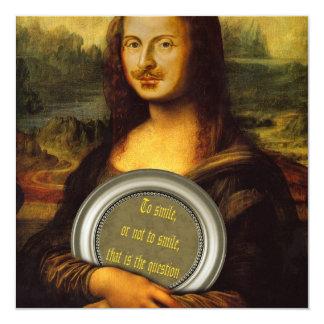 William Shakespeare Parody 13 Cm X 13 Cm Square Invitation Card