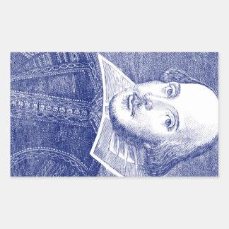 William Shakespeare Portrait from First Folio Rectangular Sticker
