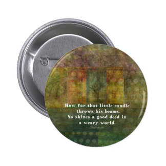 William Shakespeare quotation with painting 6 Cm Round Badge