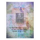 William Shakespeare quote about wisdom and fools Poster