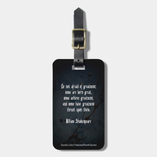 William Shakespeare Quote - Greatness Luggage Tag