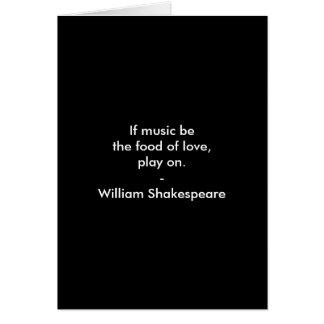 William Shakespeare Quote - Love Card