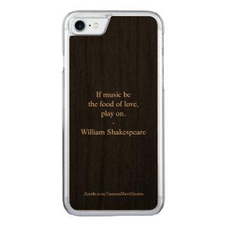 William Shakespeare Quote - Love Carved iPhone 8/7 Case