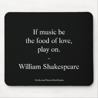 William Shakespeare Quote Love Mouse Pad