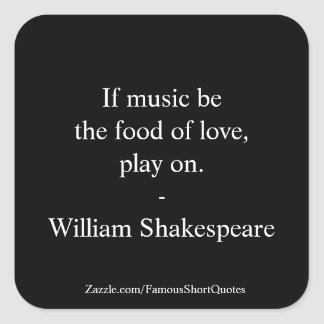 William Shakespeare Quote - Love Square Sticker