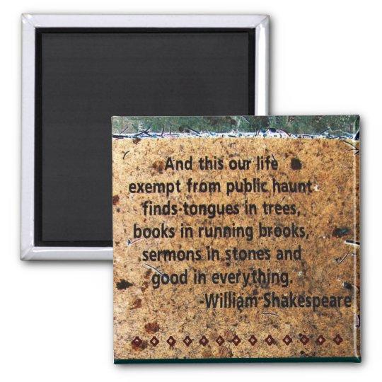 William Shakespeare Quote Magnet