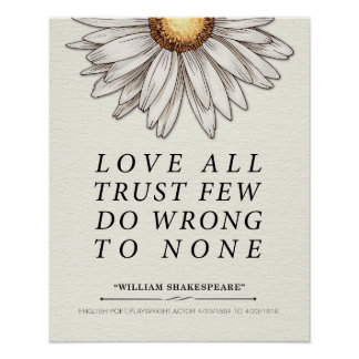 William Shakespeare Quote Poster