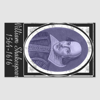 William Shakespeare Rectangular Sticker