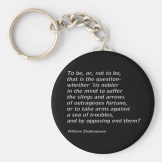 William Shakespeare`s `Hamlet` Key Ring