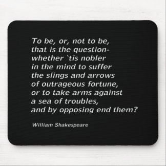 William Shakespeare`s `Hamlet` Mouse Pad