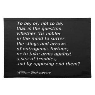 William Shakespeare`s `Hamlet` Placemat