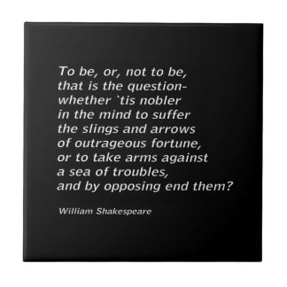 William Shakespeare`s `Hamlet` Tile