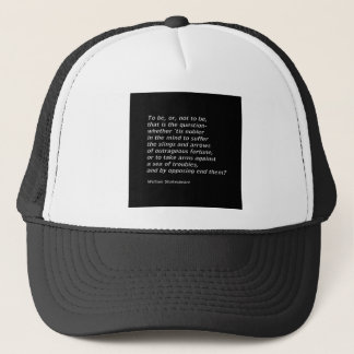 William Shakespeare`s `Hamlet` Trucker Hat