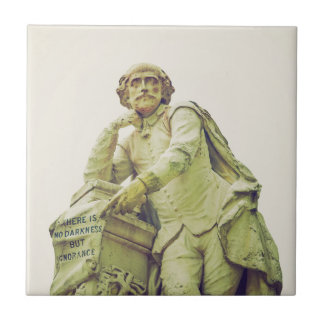 William Shakespeare statue monument Tile