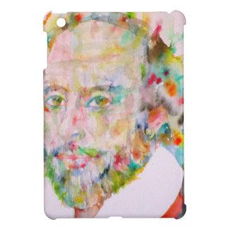 william shakespeare - watercolor portrait.1 iPad mini case
