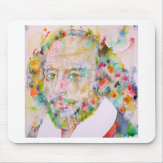 william shakespeare - watercolor portrait.1 mouse pad